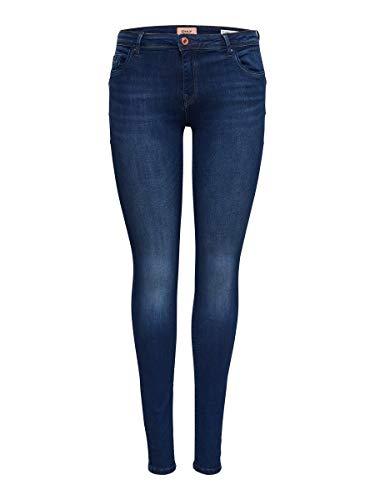 ONLY NOS Damen Skinny Jeans onlALLAN REGSK Pushup JNS BB SO1145 NOOS, Blau (Dark Blue Denim), W28/L32