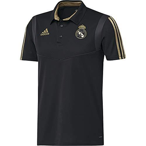 adidas Real Madrid Camiseta Polo, Unisex Adulto, Negro (Black/Dark Football Gold), S