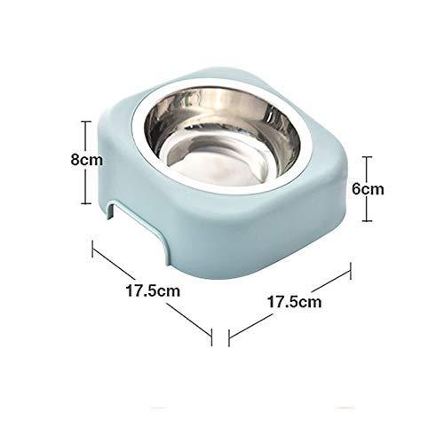 PU Voeding Bowls voor huisdier kat hond draagbare Splash-Proofeasy om Cleasingle Bowl met niet morsen afneembare kom gemakkelijk te reinigen Vaatwasser, voor katten Puppies eten en wat Green
