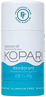Kopari Aluminum-Free Deodorant Fragrance Free for Sensitive Skin | Non-Toxic, Paraben Free, Gluten Free & Cruelty Free Men's and Women's Deodorant | Made with Organic Coconut Oil | 2.0 oz
