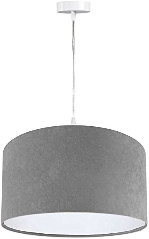 Pendelleuchte Jalua P Velours grau & Weiß  50 cm