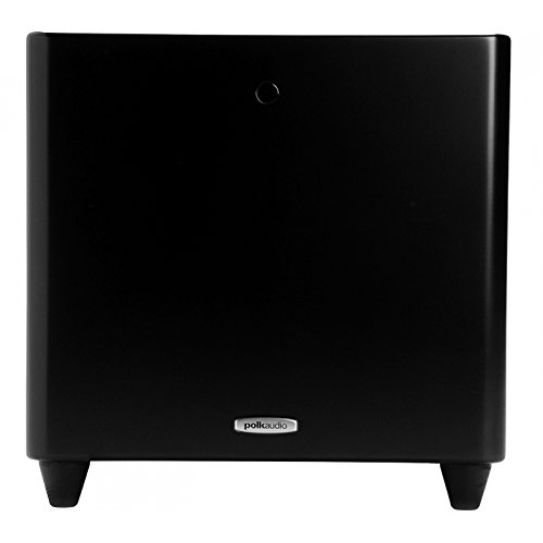 Polk Audio DSWPRO 550WI Powered 10-inch Subwoofer | Powerful 200-Watt Amp | Multiple Placement Options, Can be Placed Inside Cabinets | Easy Integration with Home Theater Systems | Night Mode,Black