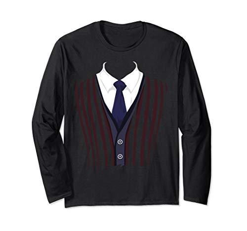 Edle Fun Fake Smoking Anzug T-Shirt Nice Black Tie Tee Langarmshirt