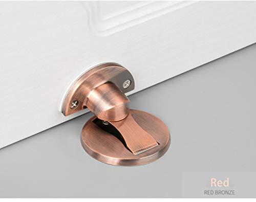 Tope magnético de la puerta Imán de acero inoxidable 304 Topes de puerta Soporte Captura oculta Piso Tope de puerta Herrajes para muebles, bronce rojo, China