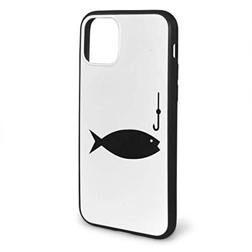 N/A Clipart Schutzhülle für iPhone 11, Silikon-Gel, Angelrute