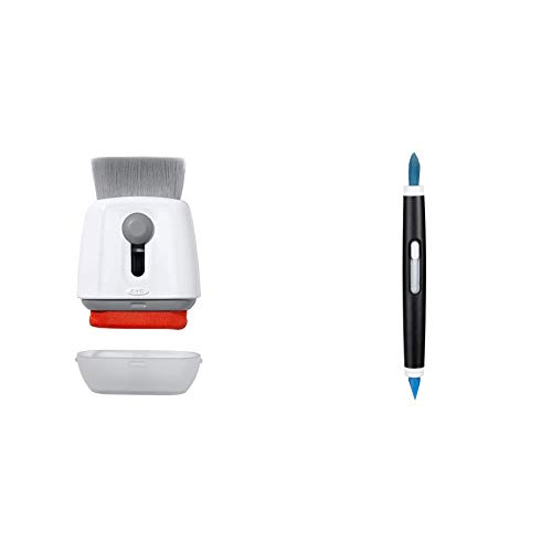 OXO Good Grips Sweep & Swipe Laptop Cleaner, White, One Size & Electronic Cleaning Brush,Blue,