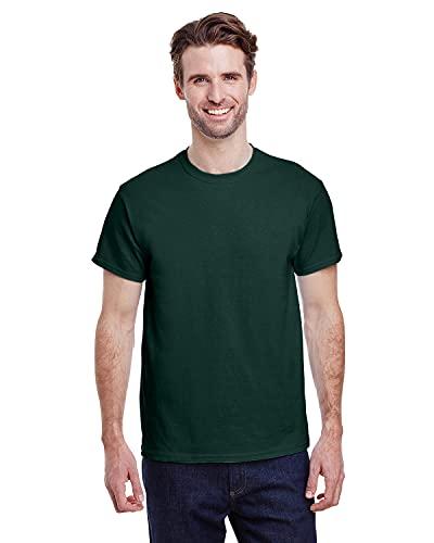 Gildan Men's G2000 Ultra Cotton Adult T-shirt, Forest Green, Large