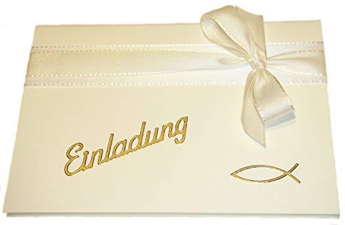 10 Stück Einladung Einladungskarten Taufe Kommunion Konfirmation Einladungen KT004 champagner