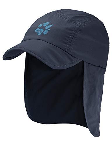 Jack Wolfskin Kinder Supplex Canyon Kids Schnelltrocknende Cap, Night Blue, S