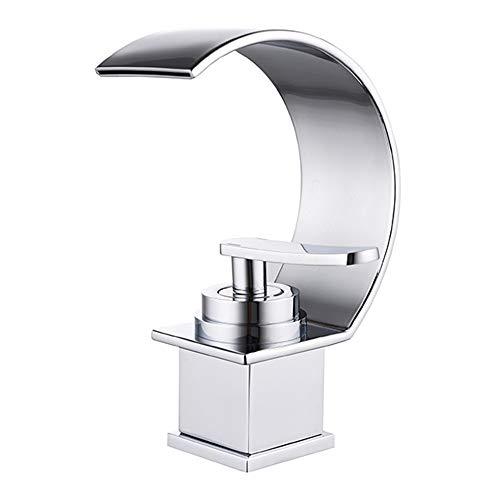 ZXLIFE@@ Badkamer wastafel kraan, wastafel kranen, Hendel Kraan met strak ontwerp, waterval wastafel mixer tik, geen water vlekken en geen lek