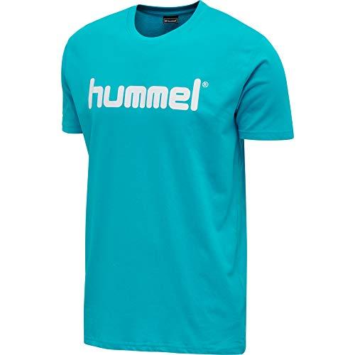 hummel HMLGO Cotton Logo T-Shirt S/S Camiseta, Bluebird, Extra-Large para Hombre
