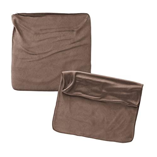 Cojines Sofa 70x70 Color Chocolate Pack de 2 Fundas de cojin Decorativos para Sofa , Cama , Salon / Funda de Terciopelo Elegantes y Modernas para la decoración del hogar sin Relleno