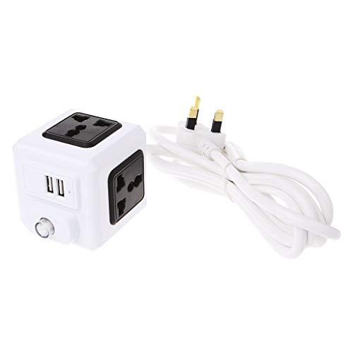 BIlinli Spina Universale Smart Home Cube EU/US/UK Spina 4 Presa Universale