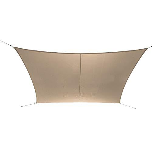 Ribelli Sonnensegel Sonnenschutz für Garten Balkon und Terasse Rechteck UV Schutz 50+ Schattenspender Wasserabweisend imprägniert Wetterschutz (2x3m, Beige)