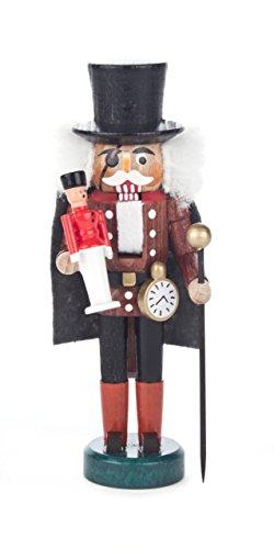 Nussknacker Figur Bergmann von DREGENO SEIFFEN 14 cm – Original erzgebirgische Handarbeit, stimmungsvolle Weihnachts-Dekoration