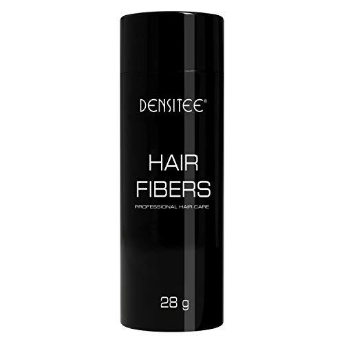 Poudre densifiante, matifiante et texturisante pour cheveux Densitee – Masque calvitie, perte de cheveux & racines – Aux microfibres de kératine naturelle - Noir