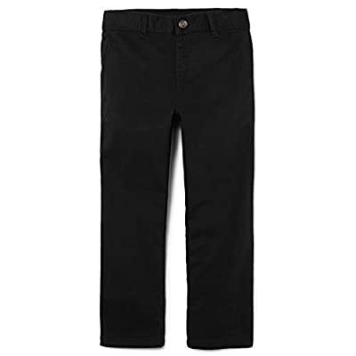 The Children's Place Big Boys' Chino Pant, Black, 8