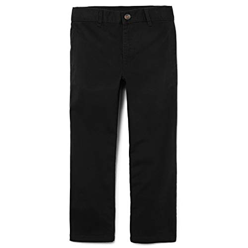 The Children's Place Boy's Uniform Chino Pants, Black, 8