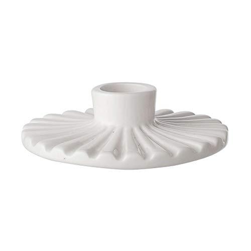 Bloomingville 27232306 Kerzenhalter - Kerzenständer - Porzellan - weiß - Ø11xH4 cm
