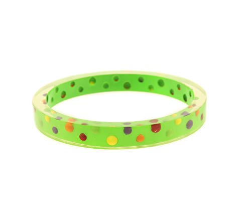 behave® Damen Rundes Armreif aus Kunststoff - Grün - 22cm Größe
