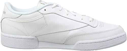 Reebok Herren Club C 85 Hallenschuhe, Mehrfarbig (White/Sheer Grey), 45 EU