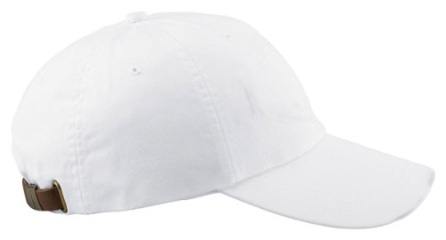 Adams AD969 Optimum Pigment-Dyed Cap White Os