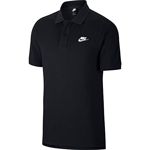 Nike Herren M NSW CE Polo Matchup PQ Shirt, Black/(White), L
