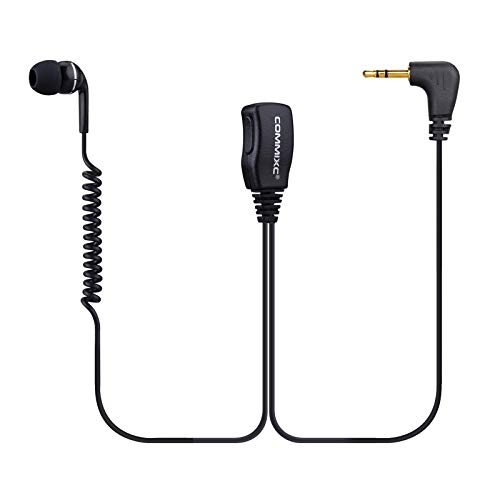 COMMIXC (2 Pack) Walkie Talkie Earpiece, 2.5mm 1-Pin in-Ear Two-Way Radio Headset with PTT Mic, Compatible with Motorola Talkabout Radios