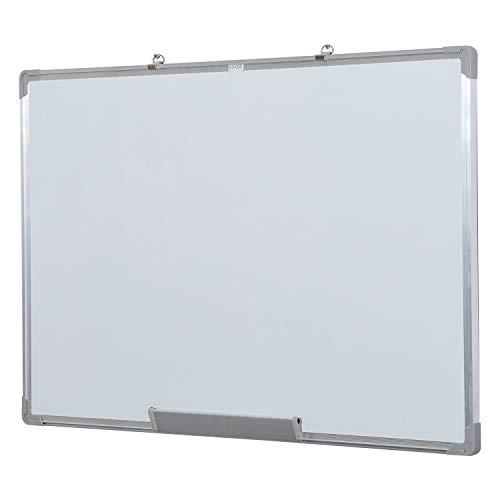 HOMCOM lavagna magnetica da parete con cornice in alluminio, con pennarelli, cancellino e...