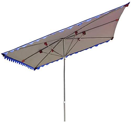Parasol Inclinado Paraguas Grandes al Aire Libre Puestos de al Aire Libre Playa Pliegues Plegable sombrilla Impermeable Paraguas Paraguas toldo Tienda Comercial Engrosado Estabilidad