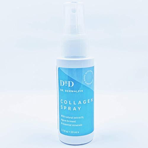 Dr. Dermalfix - Collagen Spray - Avec des Extraits Naturels - Fermentation D'agave et Minéraux Essentiels - Régénère les Cellules de la Peau - Diminue les Gonflements de la Peau - Améliore le Collagèn