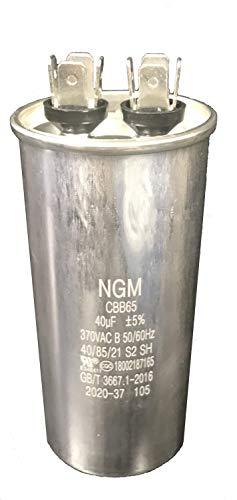 NGM Capacitor Motor Run Round 40 uF MFD 370V
