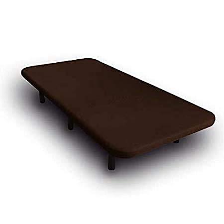 Base tapizada en 3D, Reforzada con 5 Barras transversales y Juego de 6 Patas metálicas Incluidas, Cabeceroscamas.com (Wengue, 90x190)