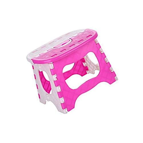 YuuHeeER Taburete plegable pequeño de plástico multiusos para el hogar o la cocina plegable plegable 1 pieza