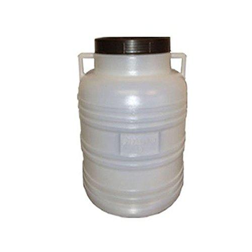 weithalsfass 60 Liter weiss mit Schraubdeckel. Neu und Lebensmittelecht