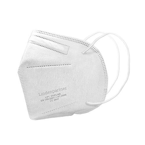 Lindenpartner FFP2 Atemschutzmaske 6er Set | Deutscher Hersteller, Mundschutz geprüft und zertifiziert | CE Prüfziffer 2841