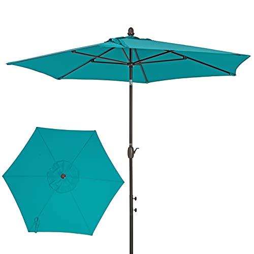 XINGG Sombrilla De Patio De 275cm, Sombrilla De Mesa De Jardín Al Exterior, con Fácil Ajuste De Inclinación, Protección UV, para Jardín, Playa, Al Aire Libre