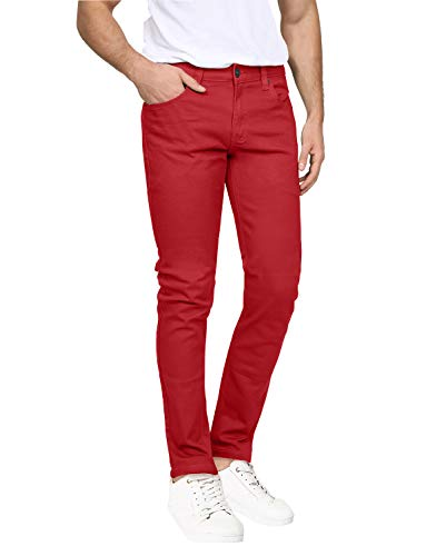 NE PEOPLE Mens Basic Classic Solid Color Skinny Fitted Stretch Jeans