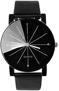 ساعة ساوث لاين ستانلس ستيل سويسرية كوارتز بسوار جلد عجل, اسود 20 (الموديل: SS20-dr1-4537)