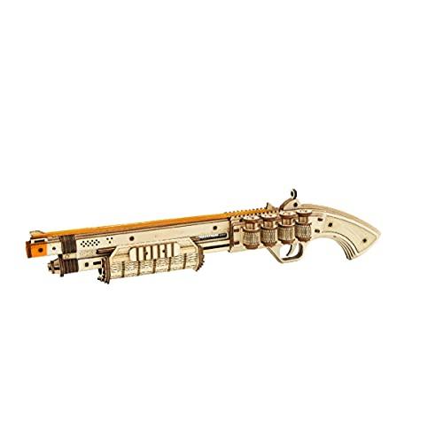RoWood 3D Wooden Puzzle Toy Gun Model Kit, Rubber Band Gun...