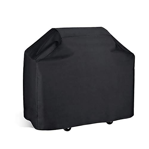 FCZBHT Couverture de Meubles Pare-poussière Extérieur, Tissu Oxford, Mobilier De Jardin Table Et Chaise Couvercle du Gril Housse De Pluie Garde poussière (Couleur : Noir, Taille : 147 * 61 * 122cm)
