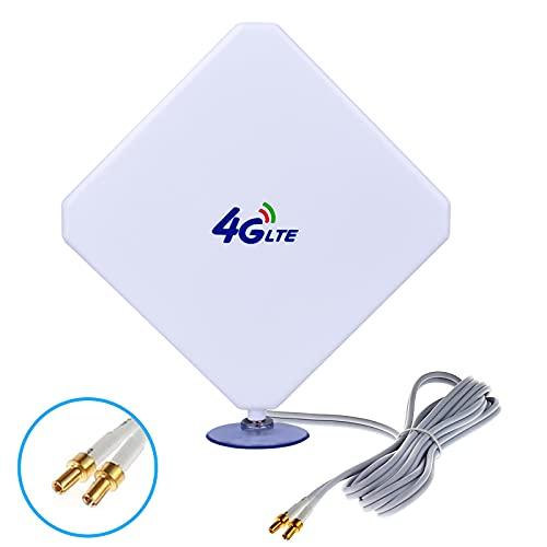 Aigital TS9 4G LTE Antenne 35dBi Dual Mimo Netzwerk Verstärker Signalverstärker WiFi Signal Booster Antenne für Wifi Router Mobiles Breitband, Huawei E5577, E5786, E5785,zte mf910