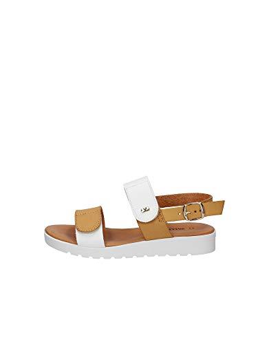 Valleverde Sandalo Donna Sintetico 43145 Cuoio Una Calzatura Comoda Adatta per Tutte Le Occasioni. Primavera Estate 2020. EU 37