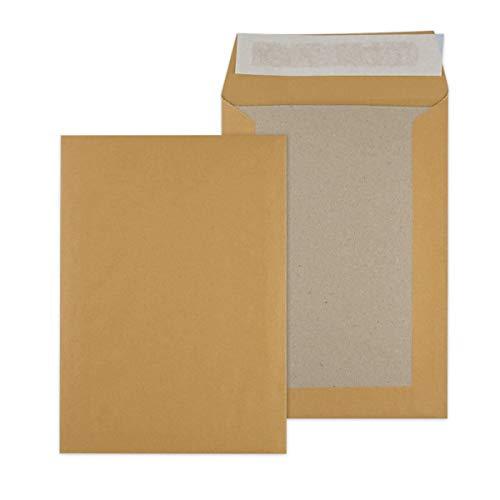 Papprückwandtaschen Versandtaschen C5 162x229mm braun 250 Stück - Div. Formate B5 C5 weiß oder braun ohne Fenster