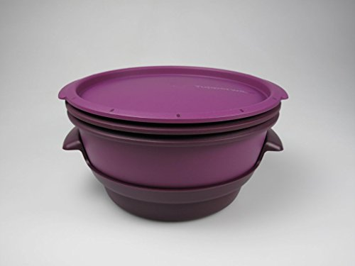 TUPPERWARE Mikrowelle MicroGourmet Dampfgarer lila Mikro Dampfwunder Micro