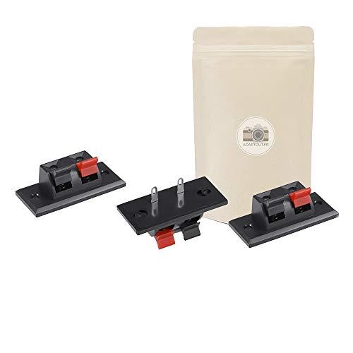 3x Bloque de terminales de 2 vías para conector de botón de altavoz de altavoz