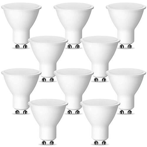 10er Pack GU10 LED Lampe 1W milk entspricht 15W Glühbirne 100lm Farbtemperatur warmweiss neutralweiß kaltweiß Reflektorlampe (10er Pack - 1W GU10 Neutralweiß 4000K)