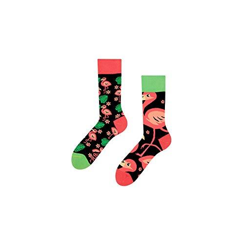 Good Mood Flamingos Buntes Design-Geschenk Socken 1 Paar, Mehrfarbig, UK9-12/EU43-46/US10-12