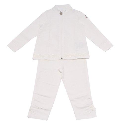 Moncler 7349R completo Tuta Girl White Sweatshirt Pant [12/18 Months]