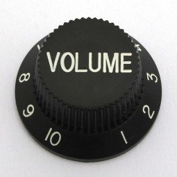 Göldo KBSVB Volume-Knopf für Strat/schwarz